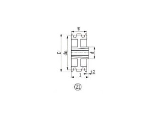 EVER-ON/エバオン ブッシングプーリー SPZ 280mm 溝数3 SPZ280-3