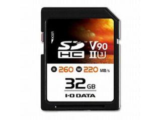 I・O DATA アイ・オー・データ UHS-II UHSスピードクラス3/Video Speed Class 90対応 SDHCメモリーカード 32GB SD2U3-32G