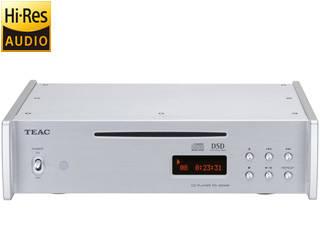 TEAC/ティアック PD-501HR-SE(シルバー) DSD/PCM ハイレゾ音源再生対応CDプレーヤー 【梱包B級品(中身は新品)メーカー保証有り】