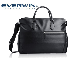 EVERWIN/エバウィン 21599 ナポリ メンズ 合皮 ショルダー 2way ビジネスバッグ 日本製 (ブラック)