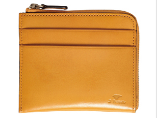 Il Bussetto/イルブセット Zip wallet/L字型ジップ財布 【イエロー】 財布 ウォレット 革小物  コンパクト ギフト プレゼント