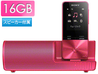 SONY/ソニー NW-S315K-P(ビビッドピンク) スピーカー付 16GB ウォークマン Sシリーズ(メモリータイプ)
