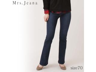 MrsJeana/ミセスジーナ 2WAYストレッチ■ベーシックブーツカットパンツ【R5濃色USED】■サイズ70