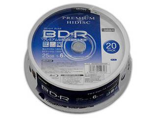 HIDISC 10個セット HIDISC BD-R 1回録画 6倍速 25GB 20枚 スピンドルケース HDVBR25RP20SPX10