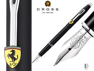 CROSS/クロス 万年筆■クラシック センチュリー フォー スクーデリア・フェラーリ【マットブラック/F】ステンレスペン先
