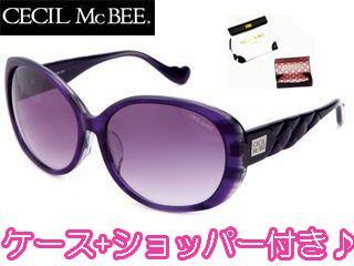 CECIL Mc BEE/セシルマクビー CMS-1001-3 CECILMcBEE サングラス [パープル×スモークグラデーション]