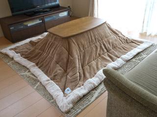 【天板90×50cm】天然木おしゃれこたつテーブルセット KT-111+KK-142
