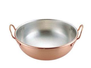 MARUSHIN/丸新銅器 SA銅打出さわり鍋 手付・スズメッキ付き/36cm