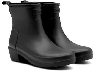 HUNTER/ハンター ★★★リファインド ローヒールアンクルブーツ 7(26cm) ブラック WFS2014RMA-BLK