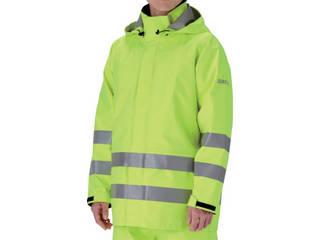MIDORI ANZEN/ミドリ安全 雨衣 レインベルデN 高視認仕様 上衣 蛍光イエロー Mサイズ RAINVERDE-N-UE-Y-M