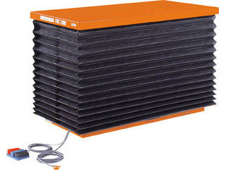 【組立・輸送等の都合で納期に4週間以上かかります】 TRUSCO/トラスコ中山 【代引不可】テーブルリフト1000kg 油圧式 750X1350 蛇腹付 HDL-100-0713J