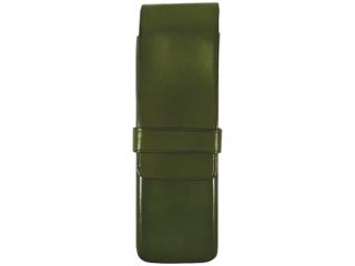 Il Bussetto/イルブセット Pen case/ペンケース【グリーン】 2本用 ペンケース 万年筆 牛革 筆箱 ギフト プレゼント