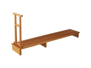 【代引不可商品】足裏爽やか玄関台 木製手すり付   4170