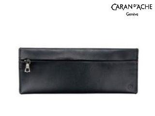CARAN dACHE/カランダッシュ 【La Collection Cuir/ラ コレクション クール】ペンポーチ ブラック 6803-009