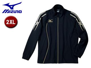 mizuno/ミズノ 32MC5010-09 クロスティック ウォームアップシャツ 【2XL】 (ブラック×ブラック)