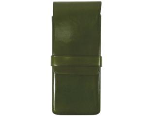 Il Bussetto/イルブセット Pen case/ペンケース【グリーン】 3本用 ペンケース 万年筆 牛革 筆箱 ギフト プレゼント