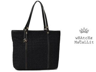 wHAtcHaMaCaLLit/ワチャマコリ パナマメッシュ トートバッグ 【ブラック】 ■日本製■