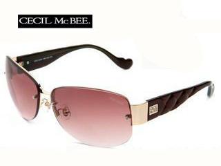 CECIL Mc BEE/セシルマクビー CMS-1002-3 CECILMcBEE サングラス [ゴールド/ブラウン×ブラウングラデーション]