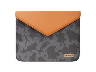"MOZO MOOMIN Envelope Laptop Pouch 15"" Brown and Gray Surface用ケース MZESM15GB"