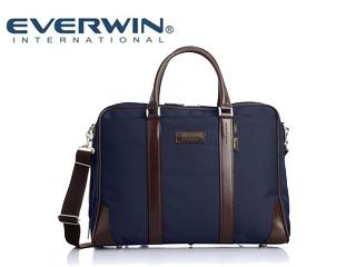 EVERWIN/エバウィン 21600 メンズ コーデュラナイロン ビジネスバッグ ミラン 日本製 (ネイビー) ショルダー 2way