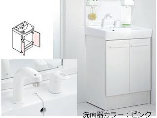 【時間帯指定不可】 LIXIL/リクシル 【INAX】洗面化粧台600mm D7 二枚扉 シングルレバー洗髪シャワー水栓 D7N4-605SY1-W/VP1P