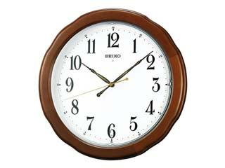 SEIKO/セイコークロック 電波掛け時計 SWEEP(スイープ) 木枠 ブラウン 【KX326B】
