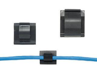 Panduit/パンドウイットコーポレーション 固定具 コードクリップ ゴム系粘着テープ付 黒 (100個入) ACC62-A-C20