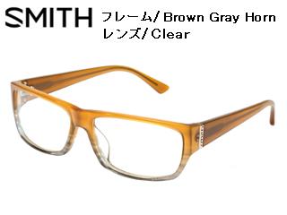 Smith Optics/スミス 伊達メガネ NO.8 Brown Gray Horn 【レンズ/Clear】 【当社取扱いのスミス商品はすべて日本正規代理店取扱品です】