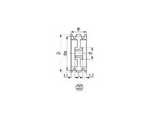 EVER-ON/エバオン ブッシングプーリー SPZ 300mm 溝数3 SPZ300-3