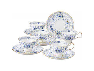NARUMI/鳴海製陶 ミラノ 5客ティー碗皿セット 9682- 【ティーサーバー】【茶器】【ティータイム】【ポット】【ティーポット】【teatime】