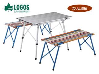 LOGOS/ロゴス ★★★73188001 オートレッグベンチテーブルセット4(ストライプ) PKSS06