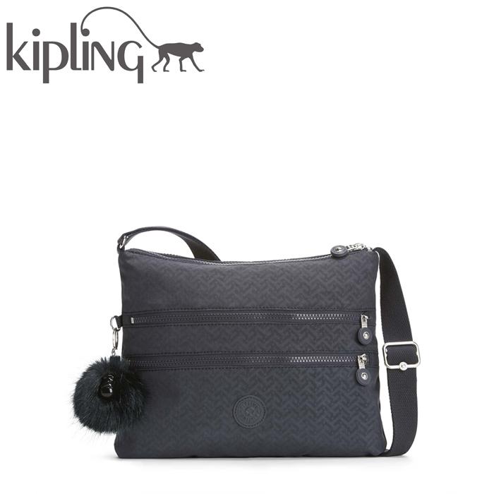 【ラッピング無料】 KIPLING/キプリング ALBAR/アルバー 斜めがけショルダー バッグ (Night Blue Emb/ナイトブルーエンボス) 《正規代理店品》