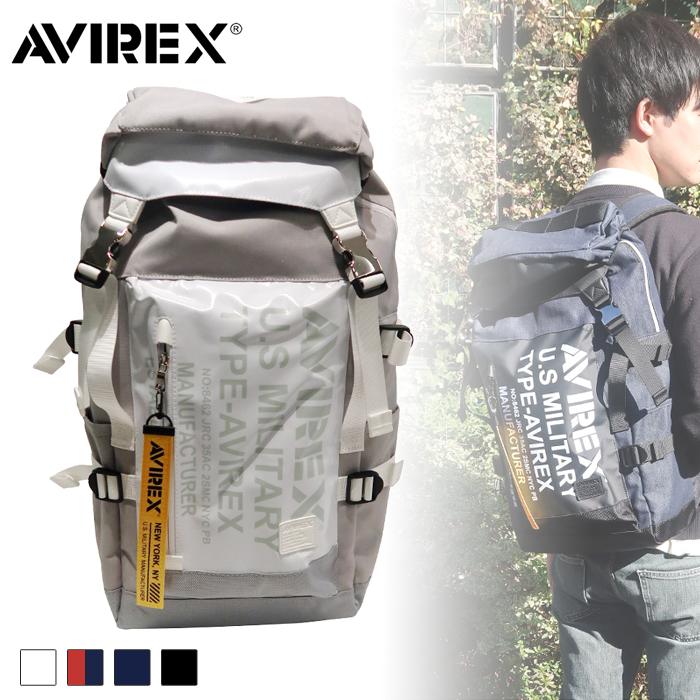 AVIREX/アヴィレックス AVX594 SUPER HORNET メンズ 被せリュック(ホワイト)