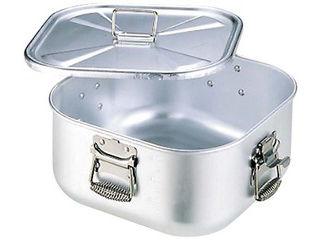 nakao/中尾アルミ製作所 アルミ 角 ガス炊飯鍋 蓋付 12.6L 7升炊