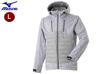 mizuno/ミズノ A2ME8545-02 ブレスサーモ テックフィル ハイブリッドジャケット 【L】 (ホワイト杢)