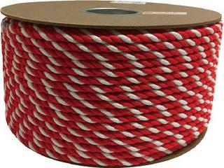 yutaka/ユタカメイク アクリル紅白ロープ 9mmm×150m PRZ-55
