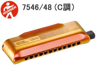 赤と金のグラディエーションが美しいデザイン HOHNER/ホーナー 7546/48(C調)ハーモニカ (CX-12 Jazz/CX12ジャズ)
