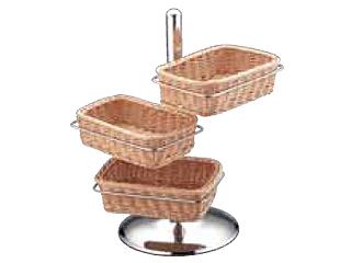 三宝産業 UK18-8 PP製パンかごスタンド角型