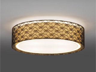 ENDO/遠藤照明 ERG5272B LEDシーリングライト 布(ブラックレース)【電球色】ランプ付