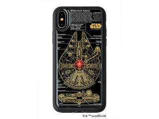 アイアップ STAR WARS スター・ウォーズ グッズコレクション FLASH M-FALCON 基板アート iPhone Xケース 黒 F10B