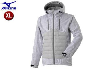 mizuno/ミズノ A2ME8545-02 ブレスサーモ テックフィル ハイブリッドジャケット 【XL】 (ホワイト杢)