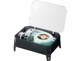 KINGJIM/キングジム テプラPRO EXロングテープカートリッジ 専用ケース付き 白ラベル 長さ:45m、黒文字 50mm幅 SS50K-EX