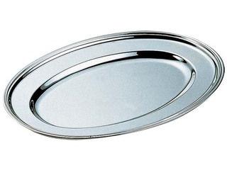 H 洋白 小判皿 18インチ 三種メッキ