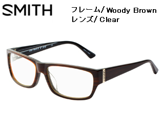 Smith Optics/スミス 伊達メガネ NO.8 Woody Brown 【レンズ/Clear】 【当社取扱いのスミス商品はすべて日本正規代理店取扱品です】