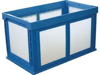 KUNIMORI/国盛化学 プラスチック折畳みコンテナ パタコン N-180 ブルー 50210-N180-B