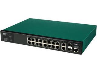 パナソニックESネットワークス 給電機能付 16ポート+SFP2スロット スイッチングハブ PN28168SB5 SK-EML16TPoE+ 5年先出しセンドバック保守 納期にお時間がかかる場合があります