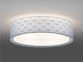 ENDO/遠藤照明 ERG5272W LEDシーリングライト 布(ホワイトレース)【電球色】ランプ付