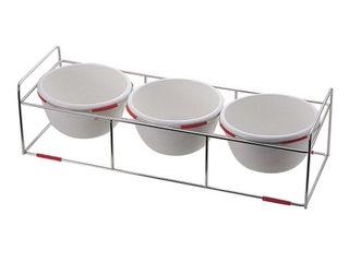 M.STYLE/ミヤザキ食器 ワイヤースタンドセット陶器28ボール付/BQ9909-2813(OR)