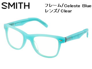 Smith Optics/スミス 伊達メガネ Dyno Celeste Blue 【レンズ/Clear】 【当社取扱いのスミス商品はすべて日本正規代理店取扱品です】
