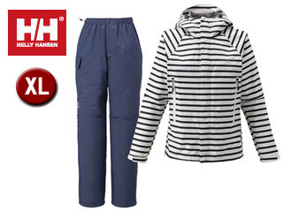 HELLY HANSEN/ヘリーハンセン HOE11400-N1 スカンザヘリーレインスーツ ユニセックス 【XL】(ボーダーネイビー)
